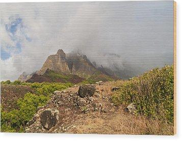 Kalalau Valley Rainbow - Kauai Hawaii Wood Print by Brian Harig