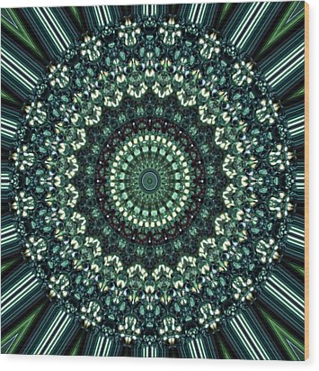 Kaleidoscope 10 Wood Print by Tom Druin