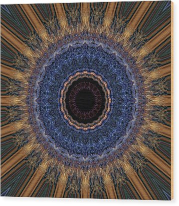 Kaleidoscope 11 Wood Print by Tom Druin