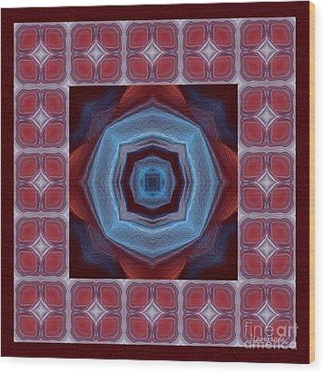 Kaleidoscope Combo 8 Wood Print by Louise Lamirande