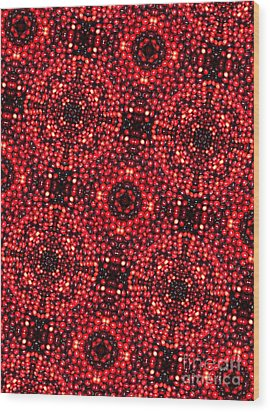 Kaleidoscope Cranberries Wood Print by Amy Cicconi