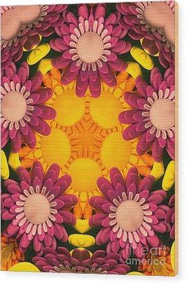 Kaleidoscope Daisies Wood Print by Amy Cicconi