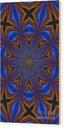 Kaleidoscope Feathers Four Wood Print