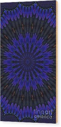 Kaleidoscope Feathers Two Wood Print