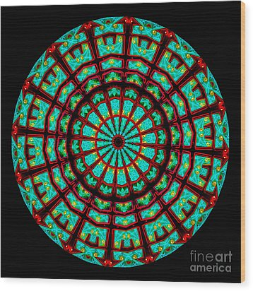 Kaleidoscope Of A Neon Sign Wood Print by Amy Cicconi