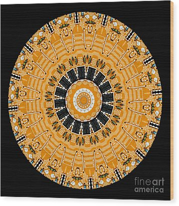 Kaleidoscope Of Computer Circuit Board Wood Print by Amy Cicconi