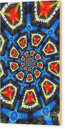 Kaleidoscope Of Primary Colors Wood Print by Amy Cicconi