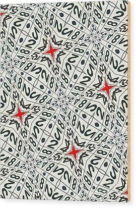 Kaleidoscope Random Numbers Wood Print by Amy Cicconi