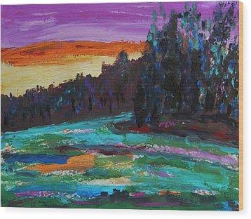 Kaleidoscope Sky Wood Print by Mary Carol Williams