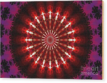 Kaleidoscope Sunset Wood Print