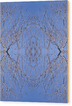 Kaleidoscope - Trees 1 Wood Print