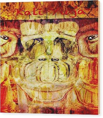 Kali Yuga Wood Print by Carlos Avila