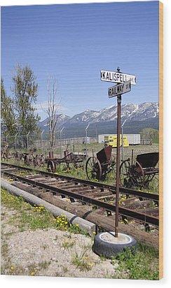 Kalispell Crossing Wood Print by Fran Riley