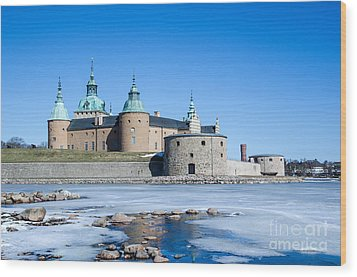 Wood Print featuring the photograph Kalmar Medieval Castle by Kennerth and Birgitta Kullman
