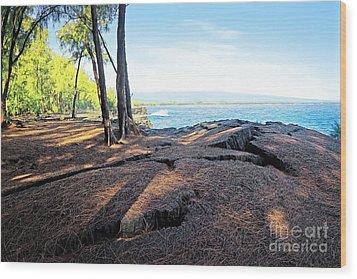 Wood Print featuring the photograph Kaloli Point 3 by Ellen Cotton
