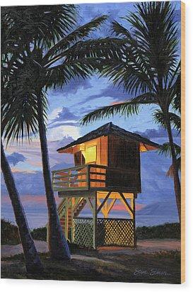 Kamaole Beach - Nocturne Wood Print by Steve Simon