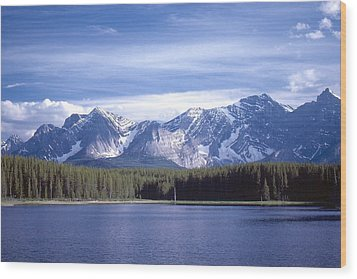 Wood Print featuring the photograph Kananaskis Mountains Lake by Jim Sauchyn