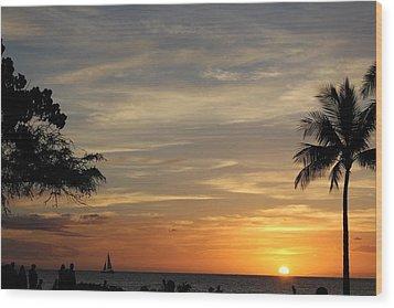 Kanapali Sunset Wood Print