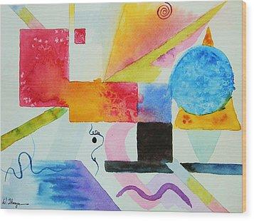 Kandinsky Dreaming Wood Print
