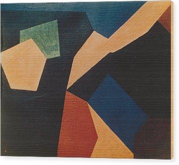 Kandinsky Homage 1972 Wood Print