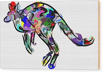 Kangaroo 2 Wood Print by Chris Butler