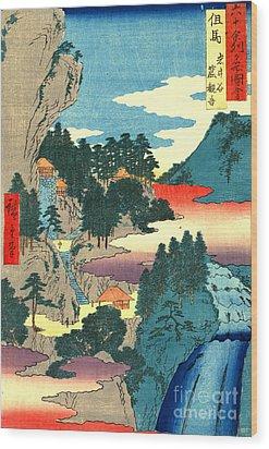 Kannon Temple Tajima Province 1854 Wood Print by Padre Art