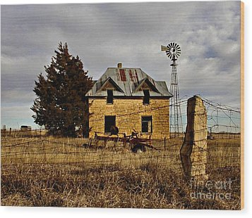 Wood Print featuring the photograph Kansas Castle 1 by Lynne Wright