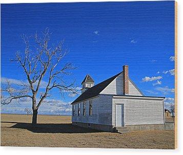 Escue Church Wood Print