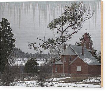 Wood Print featuring the photograph Kansas Church by Liane Wright