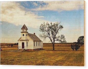 Kansas Church Wood Print by Marty Koch