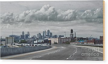 Kansas City - 01 Wood Print by Gregory Dyer