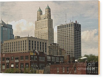 Kansas City - 03 Wood Print by Gregory Dyer