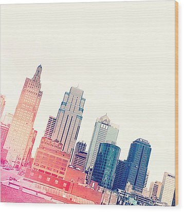 Kansas City #4 Wood Print by Stacia Blase