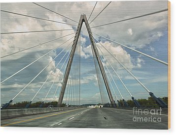 Kansas City Bridge - 01 Wood Print by Gregory Dyer
