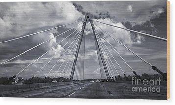 Kansas City Bridge - 02 Wood Print by Gregory Dyer