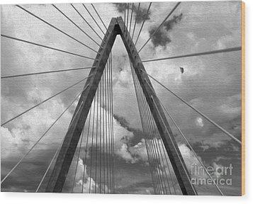 Kansas City Bridge - 03 Wood Print by Gregory Dyer