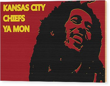 Kansas City Chiefs Ya Mon Wood Print by Joe Hamilton