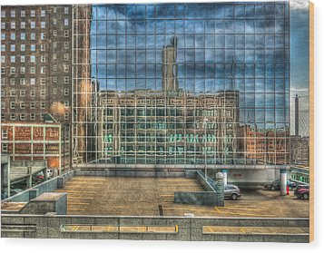 Kansas City Windows Wood Print by Ross Henton