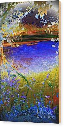 Kansas River 2 Wood Print by Karen Newell