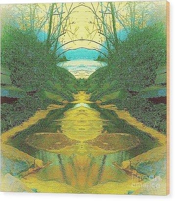 Kansas River Wood Print