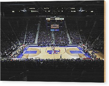 Kansas State Wildcats Fred Bramlage Coliseum Wood Print by Replay Photos