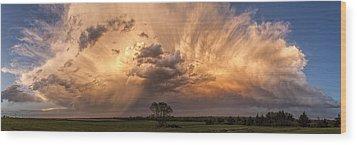 Kansas Storm Cloud Wood Print by Scott Bean