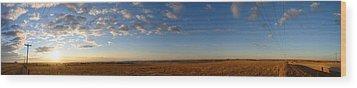 Kansas Sunrise Wood Print by Brian Duram