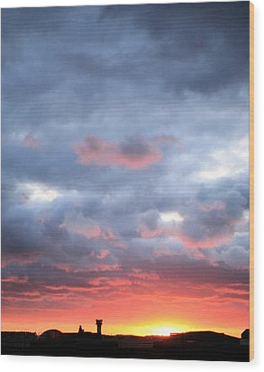 Kansas Sunset Wood Print by JC Findley