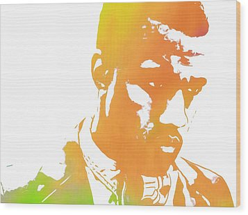 Kanye West Pop Art Wood Print by Dan Sproul