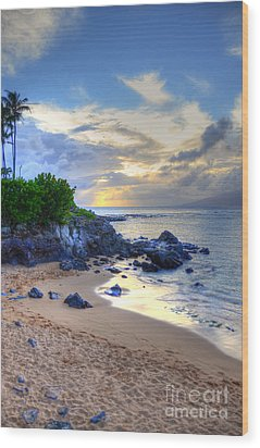 Kapalua Bay Wood Print by Kelly Wade