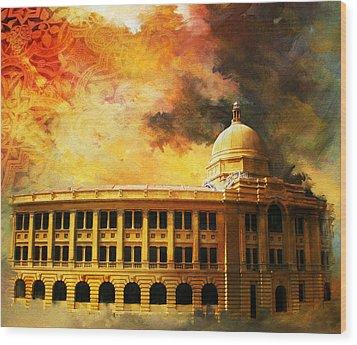 Karachi Port Wood Print by Catf
