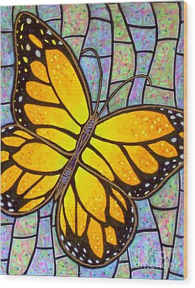 Wood Print featuring the painting Karens Butterfly by Jim Harris