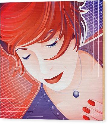 Karin Wood Print by Sandra Hoefer