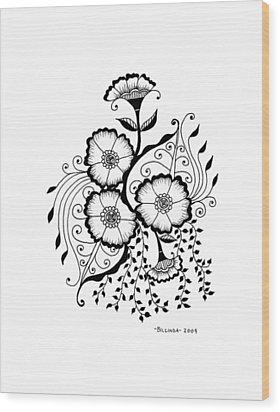 Karla's Flowers Wood Print